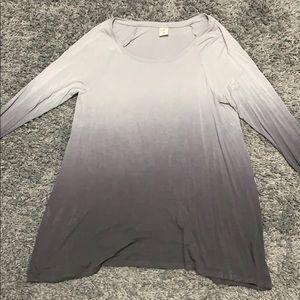 Grey ombré Hollister Long Sleeve Shirt
